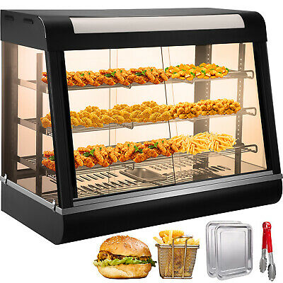 Commercial Food Cake Warmer Pizza Pie Cabinet Tempered Glass Display Showcase