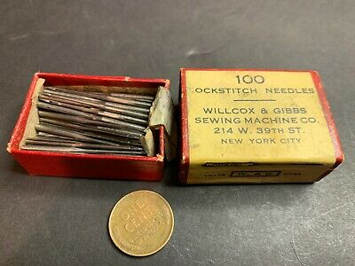 Vintage Box Willcox & Gibbs Lockstitch Needles, Size 4, Sewing Machine
