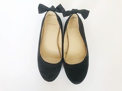 J Crew Crewcuts Black Shoes Flats Bow on Back Size 3 Girls