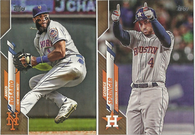 2020 TOPPS SERIES 1 BASEBALL SINGLES Gold Parallel SP #d/2020  Pick your card(s)