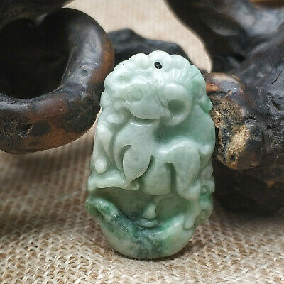 AAAAA Chinese Hand-carved aristocratic wearing Jadeite jade pendant (Jade sheep)