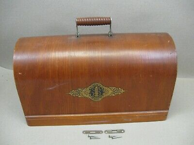 Vtg Singer 28 128 99 Sewing Machine 3/4 Size Bentwood Wood Case Top Lid Only