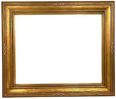 Antique AMERICAN ARTS & CRAFTS Carved Gilt PICTURE FRAME Newcomb Macklin Style
