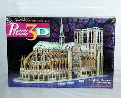 NEW NOTRE DAME Paris Cathedral Puzzle Puzz 3D 952 pc. 1996 Sealed Milton Bradley