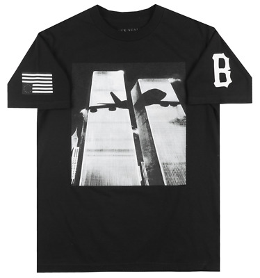 Black Scale Never Forget 911 T-Shirt Mens Occult Streetwear Tee Blvck Scvle