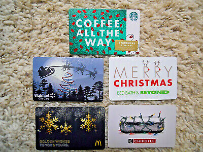 Gift Cards, Collectible, five new cards, no value on cards    (N-3)