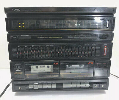 Vintage YORX AM-FM Multiplex Receiver/ Duel Cassette M2203 Tested Works