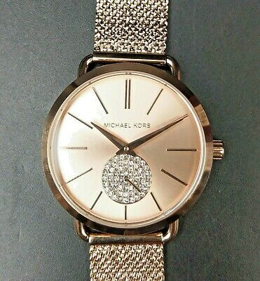 New Old Stock - MICHAEL KORS PORTIA MK3845 - Rose Gold Tone SS Lady Watch