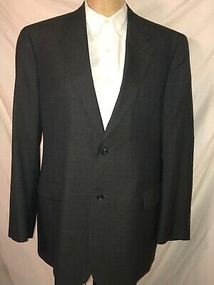 Tommy Hilfiger Men's Size 46L Black Wool Blazer Sport Coat Jacket EUC