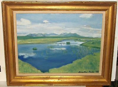 Timothy Reidy River Mountain Landscape Painting 1978