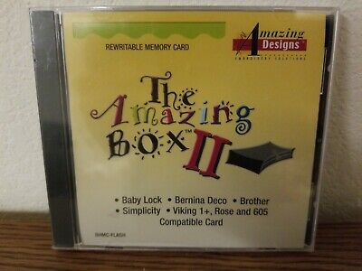 Re-writable Embroidery Card for Amazing Box II fits Brother Babylock Viking