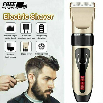 Electric Men's Boy's Shaver Hair Clipper Trimmer Razor Set Grooming Cordless AU