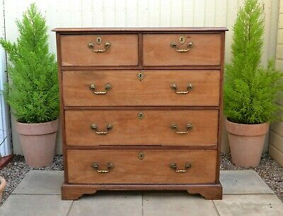 Fabulous Antique Georgian Mahogany Chest of Drawers 5 Drawers English Chest
