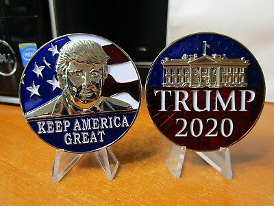 Re-Elect President Donald Trump 2020 Keep America Great POTUS Challenge Coin