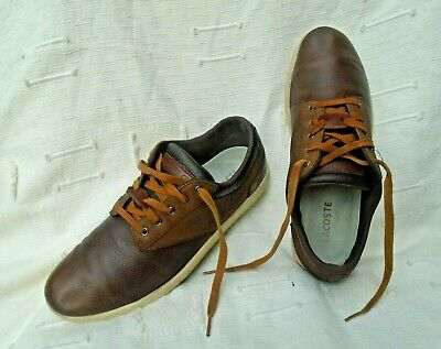 Men's Lacoste Brown Leather Lace Up Shoes/Trainers Uk 7, Eu 40.5