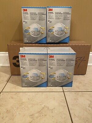 3M 8210 Plus N95 Particulate Respirator Mask, 4 Boxes Of 20 Mask, Total 80 Pcs