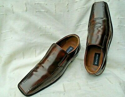 Men's Monaco Moccasin Brown Leather Shoes Uk Size 12
