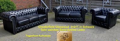 Chesterfield Glenwood  3+2+1 in Schwarz