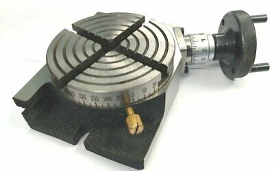 """New 4"""" Inches (100 mm) Quality Regular Rotary Table for Milling Machines"""