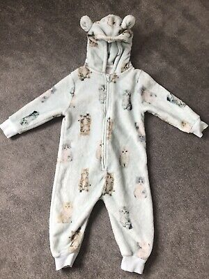 Girls Green Cat One Piece From Next Age 1.5-2 Years