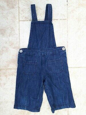 Next Girls Age 4 Blue Denim Dungaree Jeans Spring Fashion Wear 104cm Denim Kids