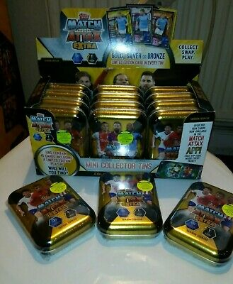 Topps Match Attax Extra - Mini Collectors Tins - Full Box OF 12