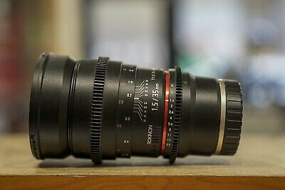 Rokinon 35mm T1.5 AS UMC Cine Manual Lens For Full Frame Sony E-Mount