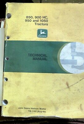 Nice JOHN DEERE 850,900HC,950 And 1050 TRACTORS TM1192 TECHNICAL MANUAL