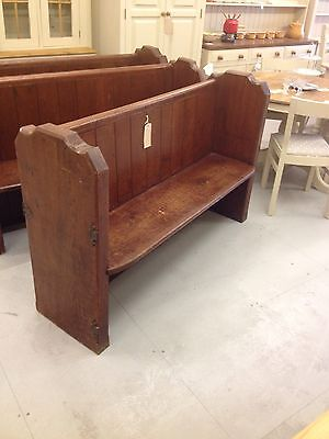 Lovely Bench / Victorian Antique Pine Church Pew,Chair,Furniture Showroom Kent