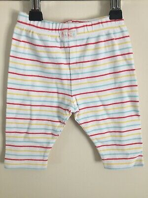 EMMA BUNTON Baby Mothercare White Bright STRIPED LEGGING Trousers Age 0-3 months