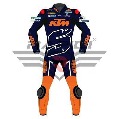 Johan Zarco KTM MotoGp Motorbike 2019 Motorcycle Leather Riding Suit All Size