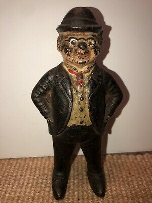 "Antique Cast-Iron ""Foxy Grandpa"" Penny Bank.Hubley C1920"