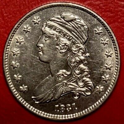 1831 Capped Bust Quarter Small Letters UNC DETAILS VERY ATTRACTIVE!