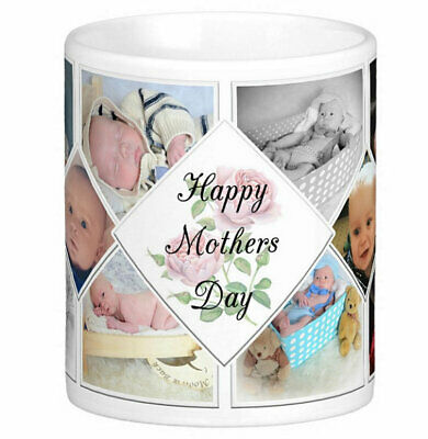 Personalised Mug 10 Photo Collage Mothers Day Gift Idea Tea Coffee Cup