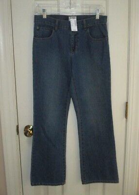 #  New Nwt The Children's Place Adjustable Waist Bootcut Blue Jeans Boys Size 14