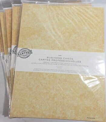 """1500 Business Cards Gartner Perforated  2"""" x 3 1/2"""" Ivory Print Your Own NEW"""