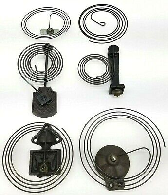 Antique Vintage Clock Gong Coil HUGE LOT Cast Iron Parts Repair Strike Old Wall