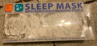Sleep Mask With Removable Warming Pouch