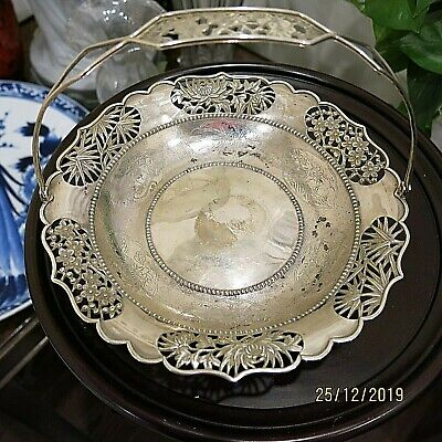Outstanding ZEE WO CHINESE EXPORT SILVER STERLING BASKET