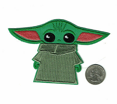 "3"" BABY YODA Patch Embroidered Iron On Star Wars patches"