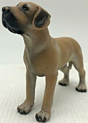 Schleich Dog Great Dane Brown Adult Male Figure 16320 Retired 1997 Germany
