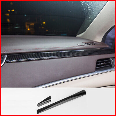 Fits Cadillac XTS 2013 up Carbon Fiber B-Pillar Window Trim Covers Post Parts