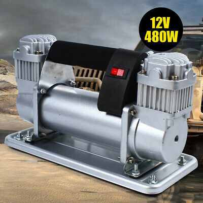 Heavy Duty Double Cylinder Air Pump Compressor 150-200 PS Car Auto Tire Inflator
