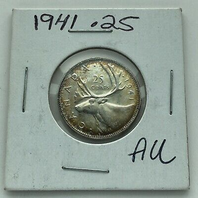 1941 CANADA 25 CENTS**L@@K**HIGH GRADE***NICE TONING***Combined Shipping**L@@K**