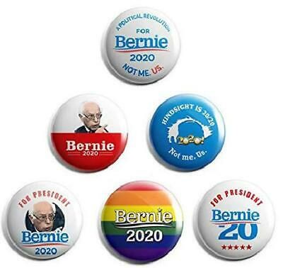 Presidential Election Historical Center Bernie Sanders Campaign Buttons Set Of 6