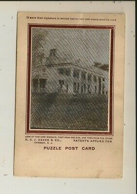 H.C.J. Deeks - Puzzle Post Card - George Washington / Mt. Vernon - Lenticular