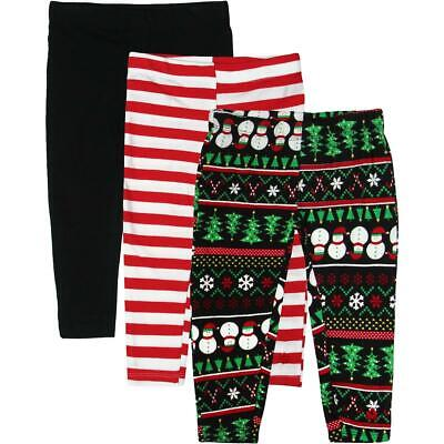 Limited Too Girls Black 3 Pack Holiday Set Leggings 4T BHFO 2060