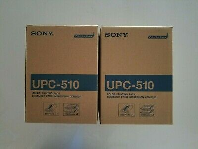 Lot of 2 Sony UPC-510 Color Printing Pack New Open Box
