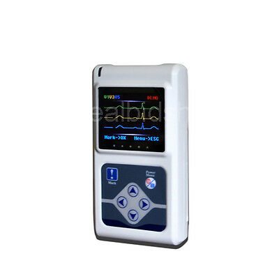 3-Channel Holter ECG/EKG 24 Hours record Monitor sleep Recorder Software  Analyz