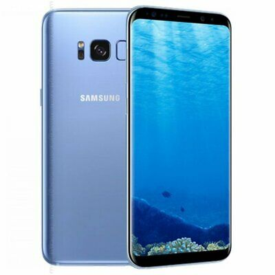 Samsung Galaxy S8 SM-G950U1 64GB 12MP Android Mobile Smartphone Blue Unlocked//